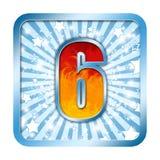 A celebração do alfabeto numera 6 seis Imagens de Stock