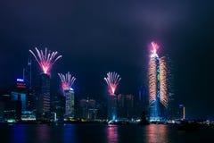 A celebração do ano 2012 novo em Hong Kong Imagem de Stock Royalty Free