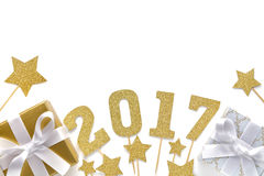 Celebração 2017 do ano novo Fotos de Stock Royalty Free