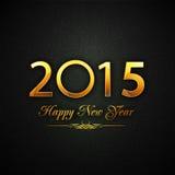 Celebração 2015 do ano novo com texto brilhante Fotografia de Stock Royalty Free