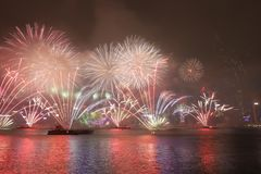 Celebração do ano novo em Hong Kong 2018 imagem de stock