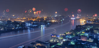 Celebração do ano novo em Tailândia Fotos de Stock