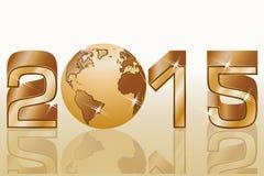 Celebração do ano 2015 novo feliz Imagens de Stock Royalty Free