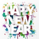 Celebração 2016 do ano novo feliz Fotografia de Stock