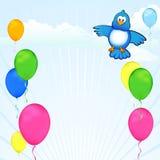 Celebração do balão do Twitter Fotografia de Stock Royalty Free