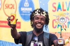 Celebração do carnaval em Pelourinho em Salvador Bahia, Brasil fotos de stock royalty free