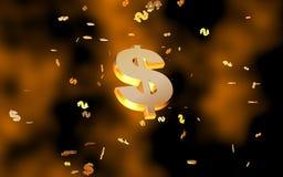 Celebração do dólar Foto de Stock Royalty Free