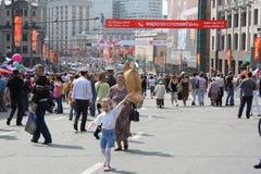 Celebração do dia da vitória em Moscovo Imagem de Stock Royalty Free