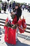Celebração do dia da vitória em Moscovo, Rússia Foto de Stock Royalty Free
