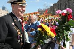 Celebração do dia da vitória em Rússia, Moscovo Fotografia de Stock Royalty Free
