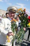 Celebração do dia da vitória em Rússia, Moscovo Foto de Stock Royalty Free