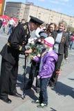 Celebração do dia da vitória em Rússia, Moscovo Foto de Stock