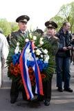 Celebração do dia da vitória (Europa Oriental) no equipamento Fotos de Stock Royalty Free