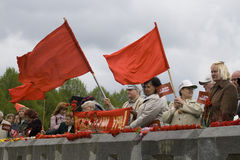 Celebração do dia da vitória (Europa Oriental) no equipamento Foto de Stock Royalty Free