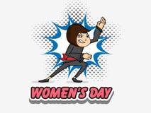 Celebração do dia das mulheres internacionais com moça Fotografia de Stock