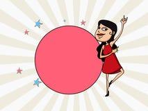 Celebração do dia das mulheres internacionais com moça Imagem de Stock Royalty Free