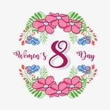 Celebração do dia das mulheres o 8 de março ilustração stock