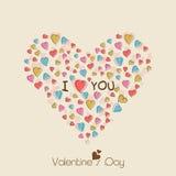 Celebração do dia de Valentim com forma dos corações Fotos de Stock Royalty Free