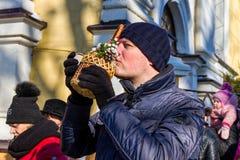 Celebração 2017 do dia do esmagamento em Uzhgorod Fotos de Stock Royalty Free
