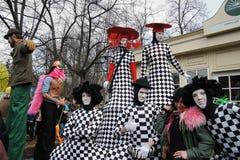 Celebração do dia do ` s de St Patrick em Moscou Fotografia de Stock Royalty Free