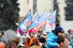 Celebração do dia internacional da solidariedade em Donetsk sobre Fotos de Stock