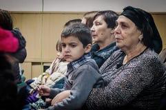 A celebração do dia do ` s da mãe na região de Kaluga de Rússia em 2016 Imagens de Stock Royalty Free