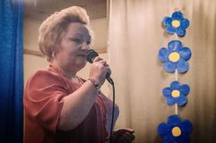 A celebração do dia do ` s da mãe na região de Kaluga de Rússia em 2016 Fotografia de Stock Royalty Free