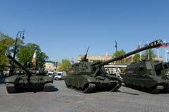 Celebração do ensaio do 71th aniversário de Victory Day Imagem de Stock