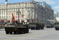 Celebração do ensaio do 71th aniversário de Victory Day (WWII) Fotos de Stock
