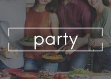 Celebração do entretenimento do divertimento do partido que recolhe o conceito Imagens de Stock