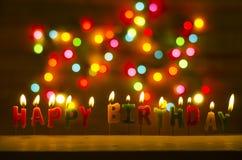 Celebração do feliz aniversario Fotografia de Stock Royalty Free