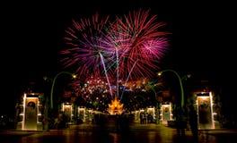 Celebração do fogo de artifício foto de stock