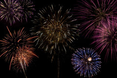 Celebração do fogo-de-artifício fotografia de stock