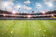 Celebração do futebol Imagens de Stock