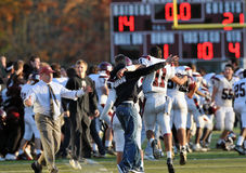 Celebração do futebol da High School Imagens de Stock Royalty Free
