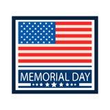 Celebração do Memorial Day de U S A Fotografia de Stock Royalty Free