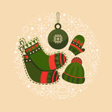 Celebração do Natal da ilustração Imagem de Stock