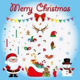Celebração do Natal Partido ícone Vetor liso Fotos de Stock