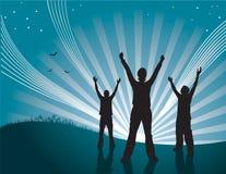 Celebração do por do sol Imagem de Stock Royalty Free