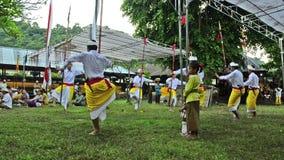 Celebração do templo em Bali, Indonésia Imagens de Stock