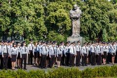 Celebração do terceiro aniversário da polícia nacional de U Fotos de Stock