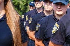 Celebração do terceiro aniversário da polícia nacional de U Foto de Stock Royalty Free