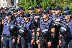 Celebração do terceiro aniversário da polícia nacional de U Fotografia de Stock