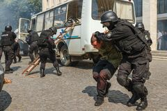 Celebração do terceiro aniversário da polícia nacional de U Imagem de Stock Royalty Free