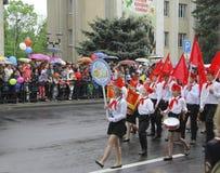Celebração do 70Th aniversário de Victory Day Pyatigorsk Russia - 9 de maio de 2015 Fotografia de Stock