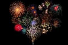 Celebração dos fogos-de-artifício Fotografia de Stock Royalty Free
