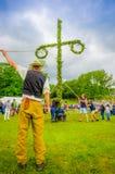 Celebração dos plenos verões em Gothemburg, Suécia Imagens de Stock Royalty Free