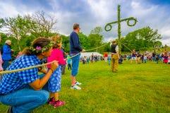 Celebração dos plenos verões em Gothemburg, Suécia Fotos de Stock