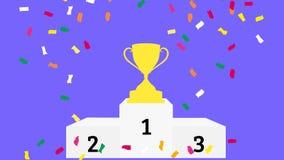 Celebração dos vencedores video estoque