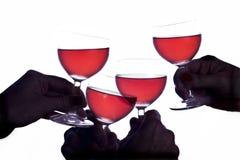 Celebração e vinho Fotografia de Stock Royalty Free